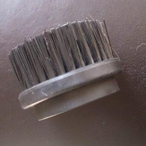 Ronde borstel met harde haren voor stoomzuiger